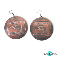 Hecho en Chicago::: {Big o' Copper Earrings}