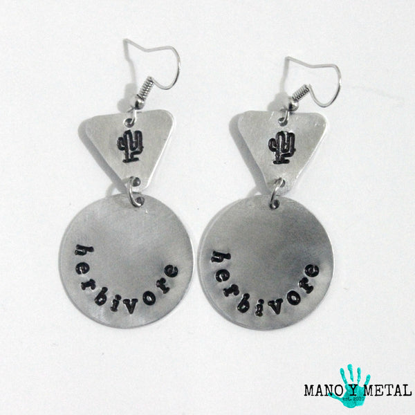 HERBIVORE::: {circle-triangle dangle earrings)