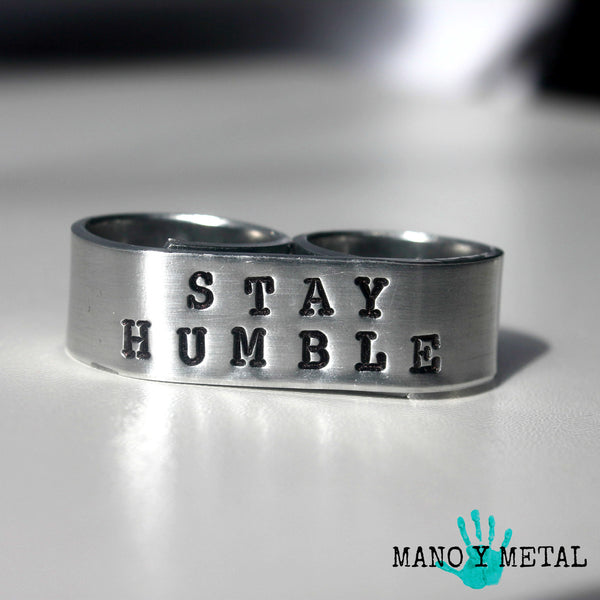 Stay Humble {Double-Finger Ring}