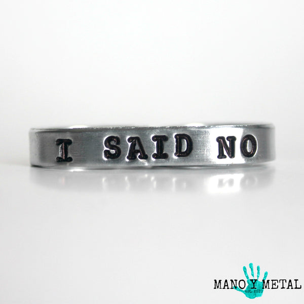 I SAID NO {bar double-finger ring}