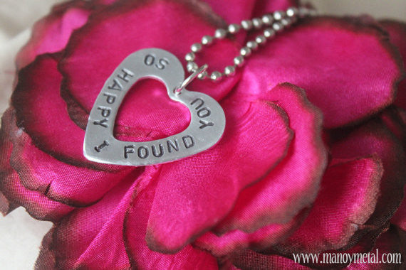 So Happy I Found You♥ {heart charm necklace}