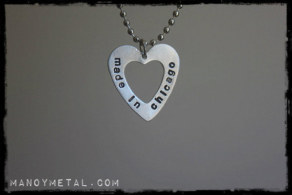 Made in Chicago {heart charm necklace}