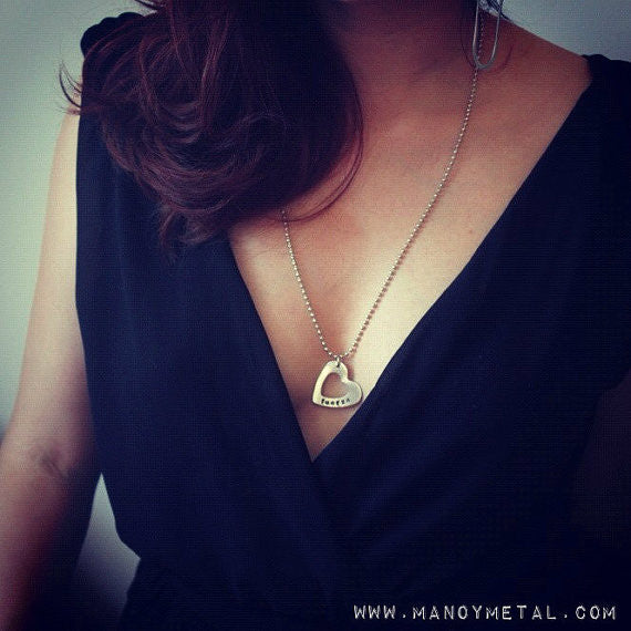 esperanza (hope) // heart charm necklace