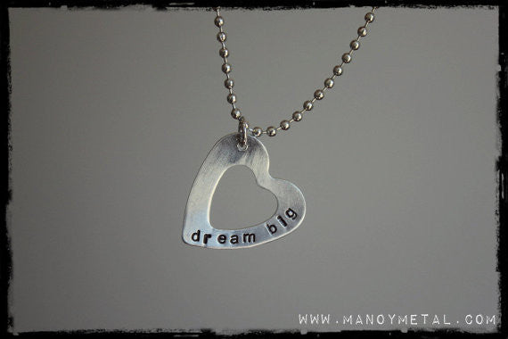dream big {heart charm necklace}