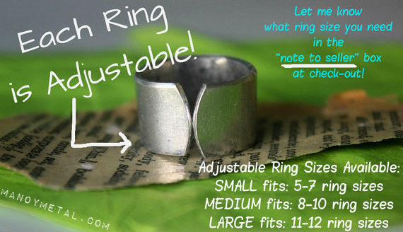 chismosa y que::: {hand stamped adjustable ring}