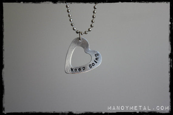 keep going      {heart charm necklace}