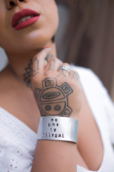 no one is illegal::: {wide cuff bracelet}