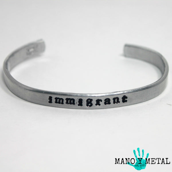 immigrant {bar cuff bracelet}