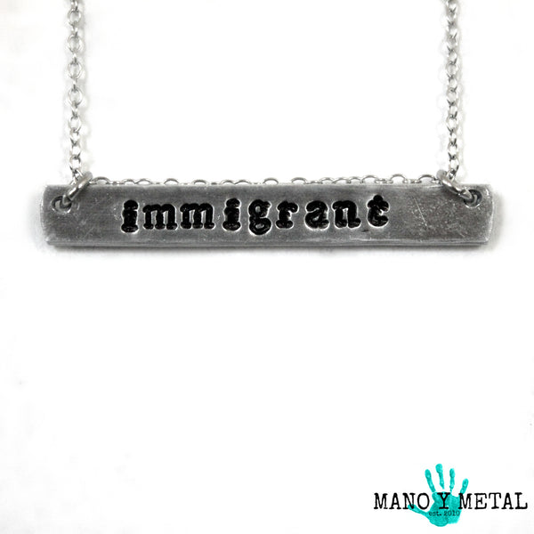 immigrant {bar necklace}