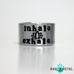 inhale * exhale::: {hand stamped adjustable ring}