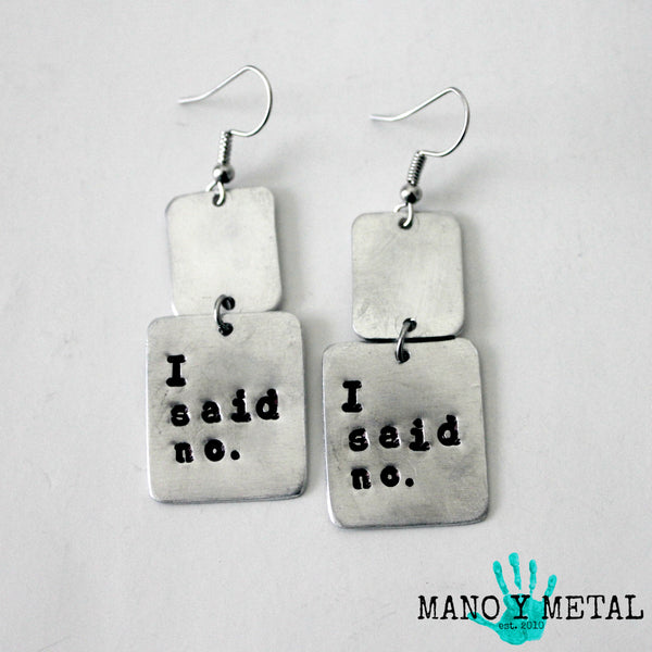 i said no.★ {dangle earrings}