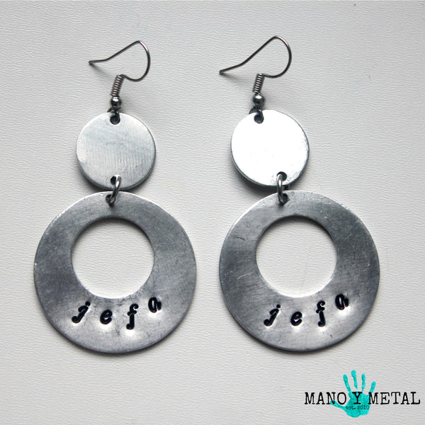 jefa::: {circle dangle earrings)
