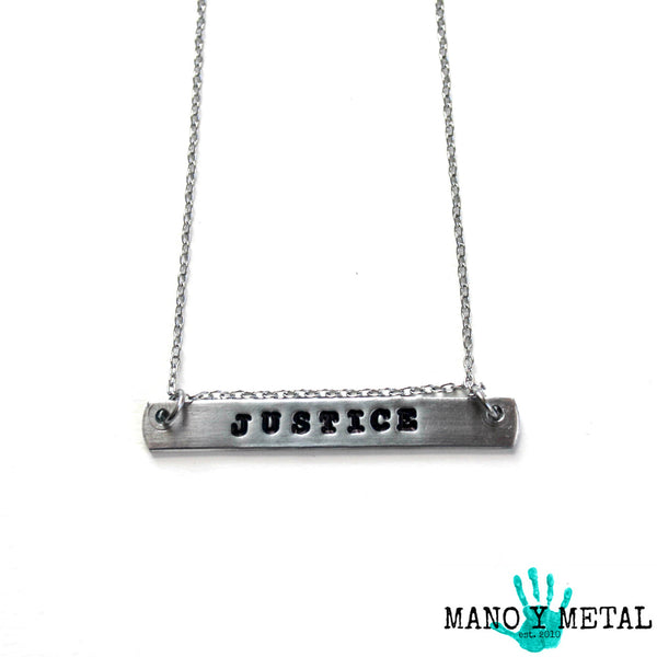 JUSTICE {bar necklace}