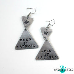Keep it Natural★::: {triangle dangle earrings}