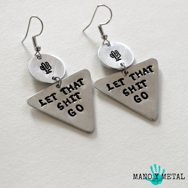 let that shit go::: {triangle dangle earrings}