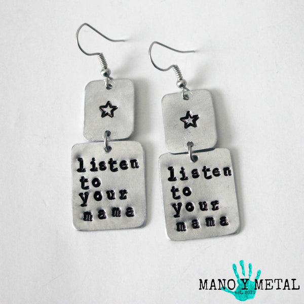 listen to your mama★ {dangle earrings}