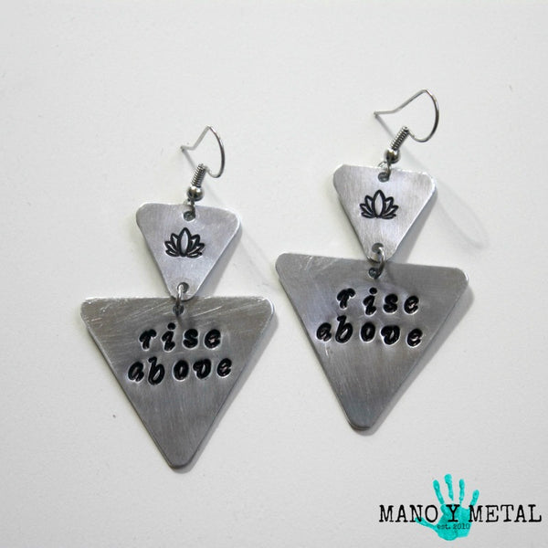 Rise Above::: {triangle dangle earrings}