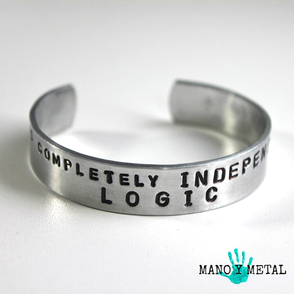 Love is completely Independent of Logic::: {thin cuff bracelet}