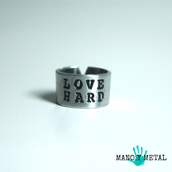 Love Hard::: {Hand Stamped Ring}
