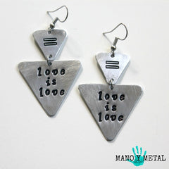 love is love::: {triangle dangle earrings}