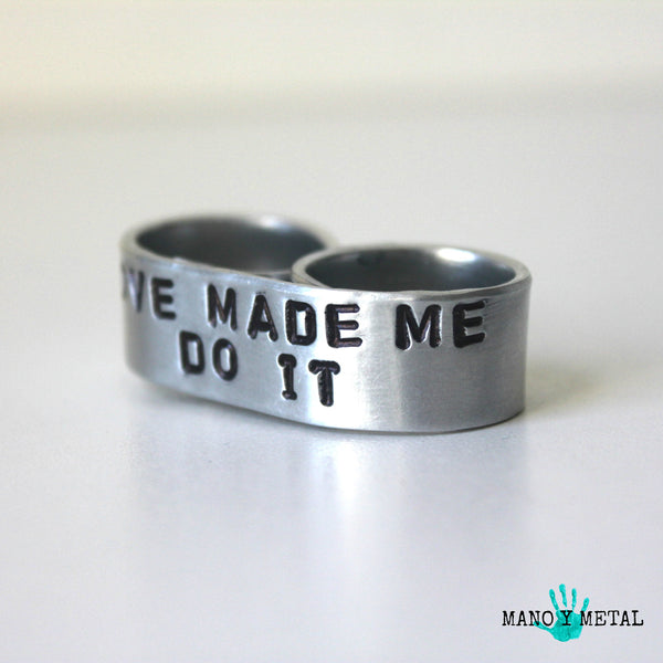 Love Made Me Do It::: {double-finger ring}