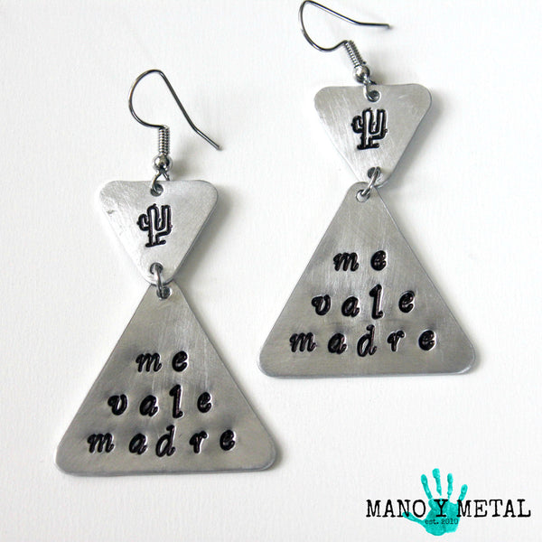 me vale madre::: {triangle dangle earrings}