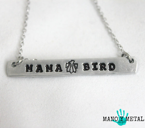 MAMA BIRD {bar necklace}