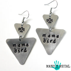mama bird::: {triangle dangle earrings}