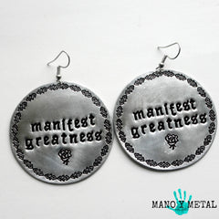 manifest greatness★ {Big O' Circle Earrings}