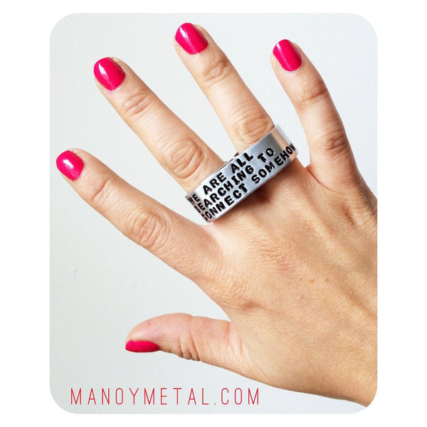 FUCK YOU★ {double-finger ring}