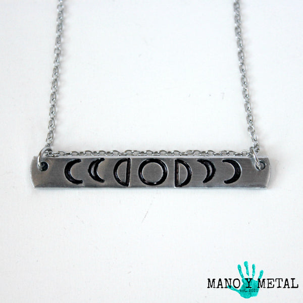 moon phases:::...{bar necklace}