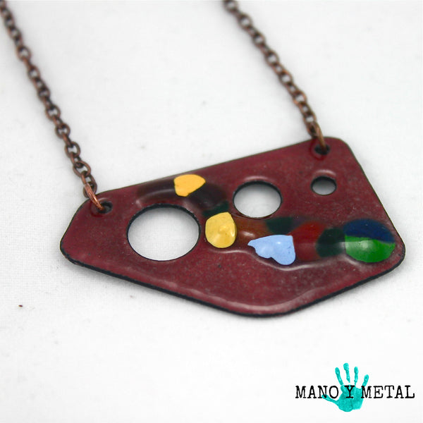 Candy Chocolate Enamel Necklace:::