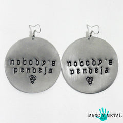 nobody's pendeja★ {Big O' Circle Earrings}