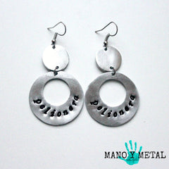 pelionera::: {circle dangle earrings)
