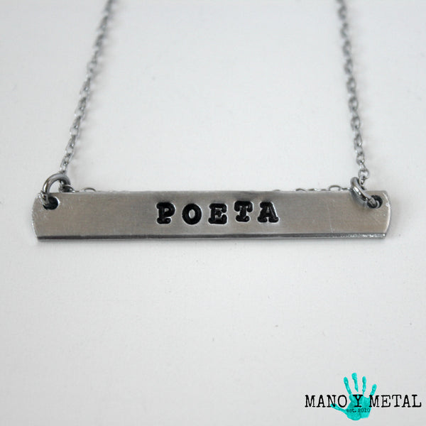 POETA {bar necklace}