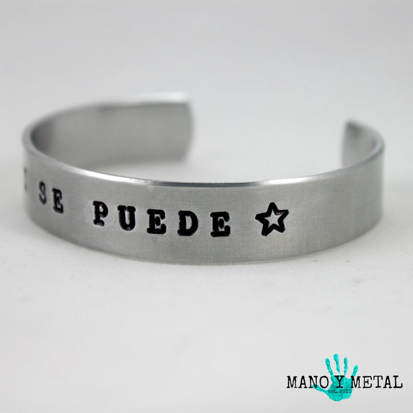 si se puede★ {thin cuff bracelet}