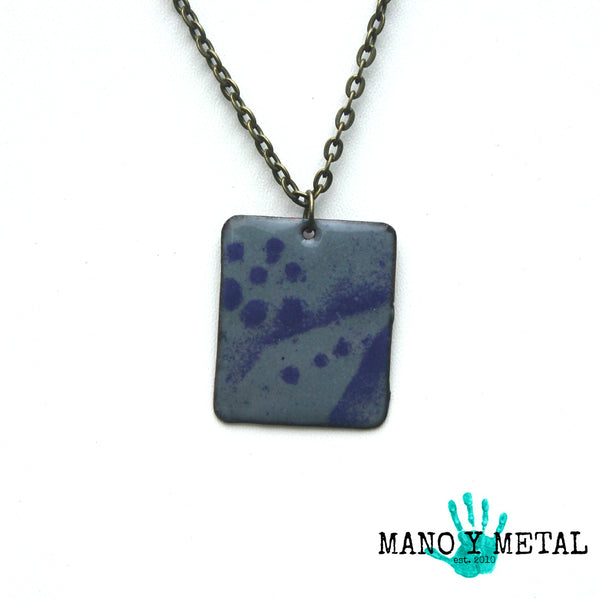Purple Haze::: Enamel Necklace