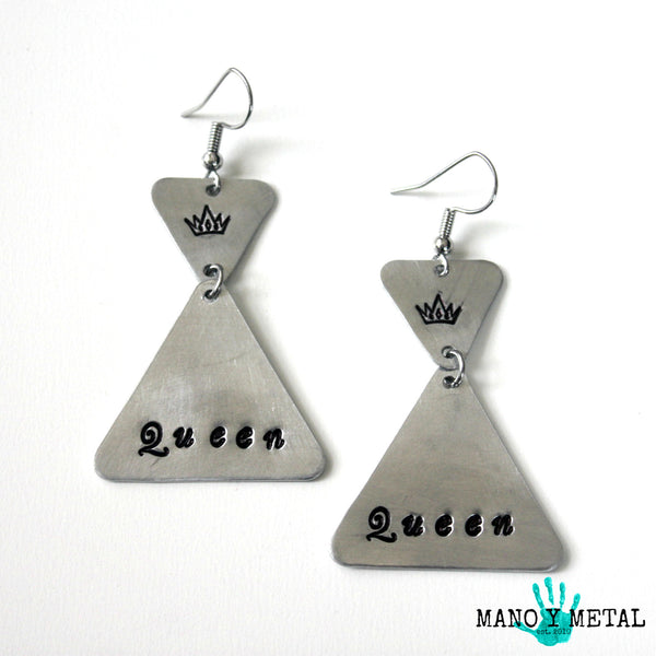 Queen::: {triangle dangle earrings}