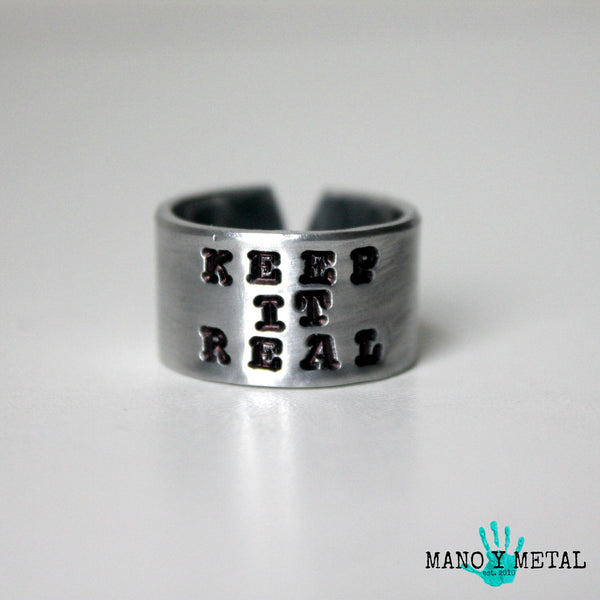 keep it real::: {Hand Stamped Ring}