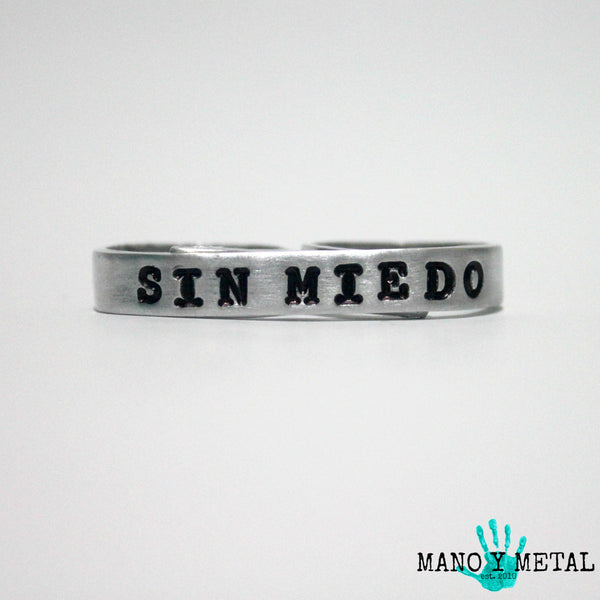 SIN MIEDO {bar double-finger ring}