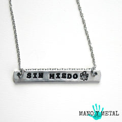 SIN MIEDO {bar necklace}