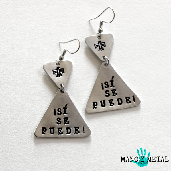 ¡Si Se Puede!::: {triangle dangle earrings}