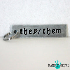 THEY/THEM Keychain