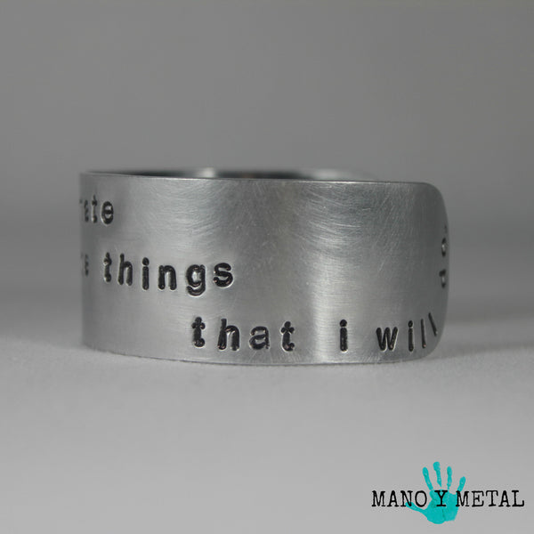 Don't underestimate the things that I will do. {Cuff Bracelet}