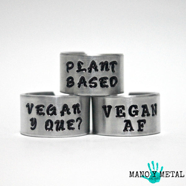 PLANT BASED::: {hand stamped ring}