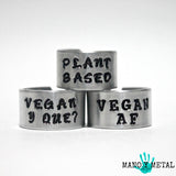 VEGAN Y QUE?::: {hand stamped ring}