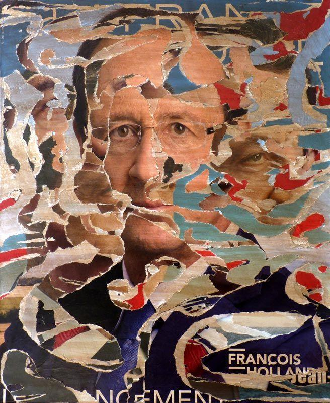 TAILLANDIER Alexandre: Sans titre 15 collages sur toile (65
