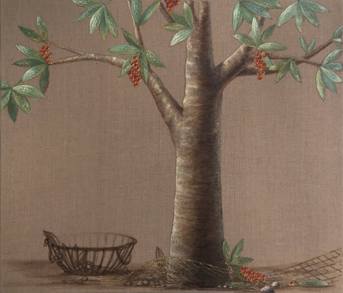 Barbara GERODIMOU - The ambrosia tree (tableau mixte / Toile