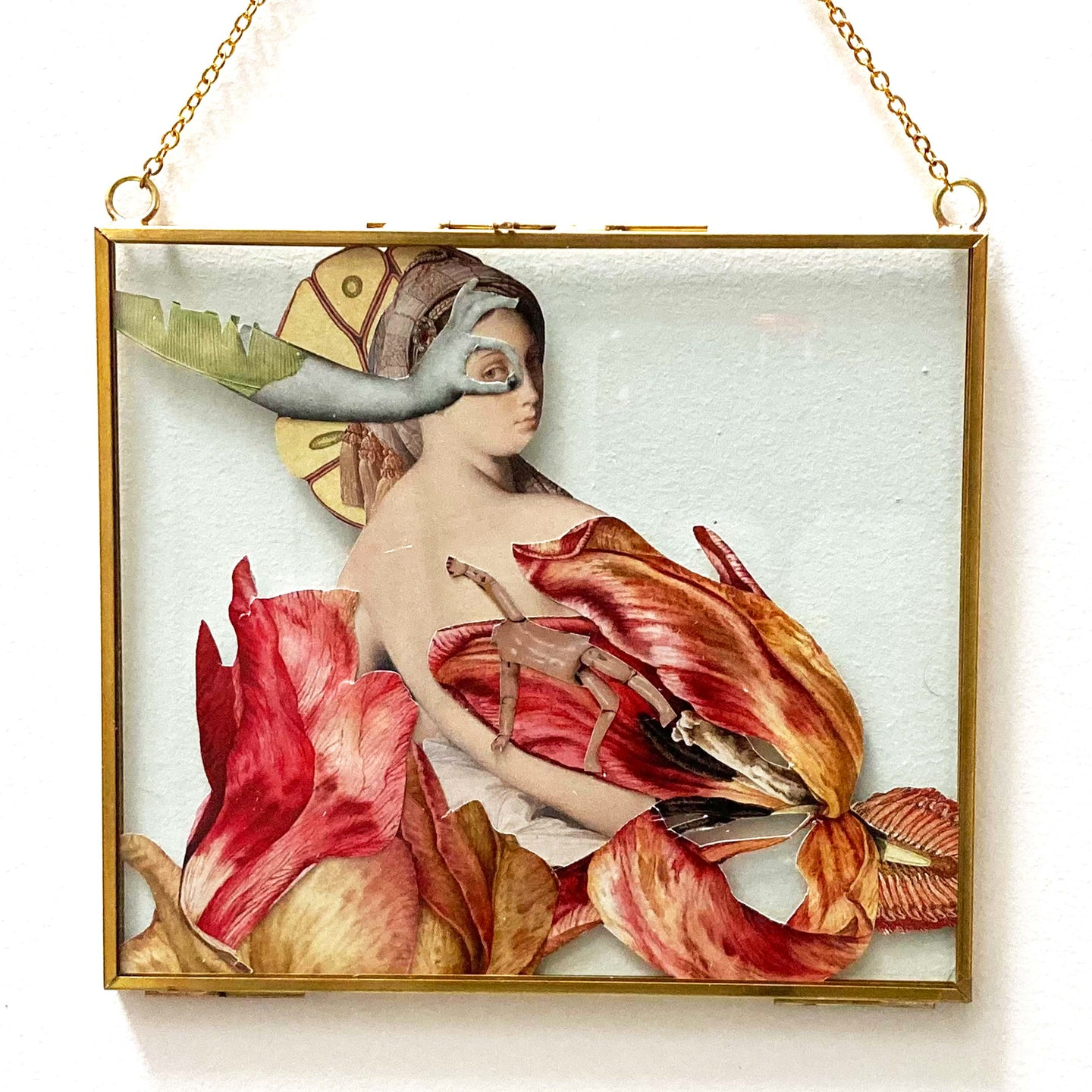 BLONDEL Sidonie - Odalisque (Collage/verre) - Collage