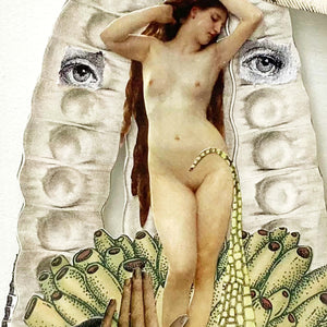 BLONDEL Sidonie - Venus (Collage/verre) - Collage